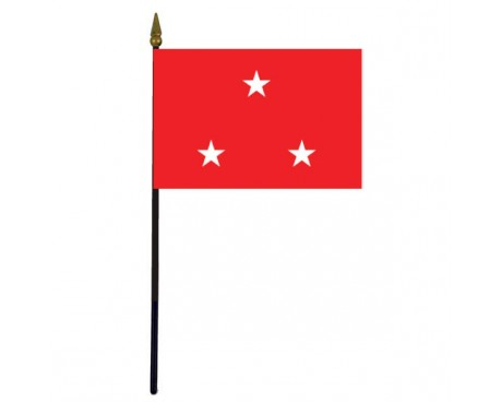 "Marine Corps Lieutenant General Stick Flag - 4x6"""