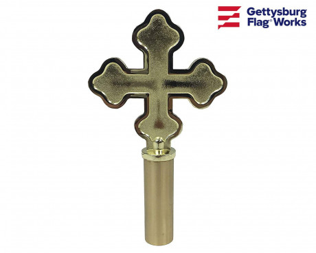 Botonee Cross Gold Finial