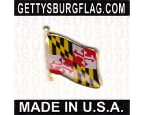Maryland State Flag Lapel Pin (Single Waving Flag)