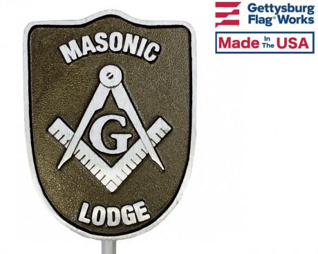 Masonic Aluminum Grave Marker