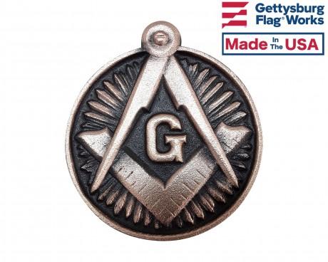 Masonic Bronze Grave Marker