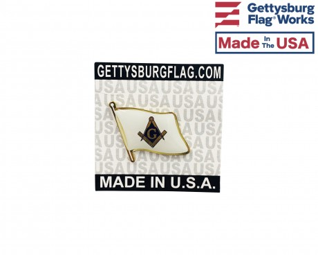 Masonic Lapel Pin (Single Waving Flag)