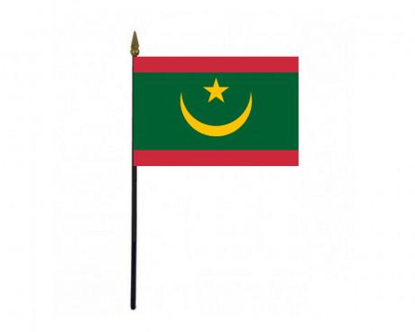 "Mauritania Stick Flag - 4x6"""