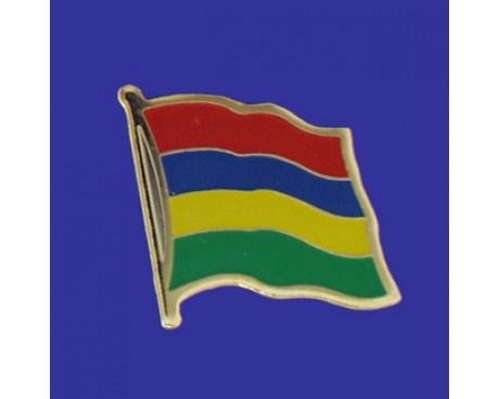Mauritius Lapel Pin (Single Waving Flag)