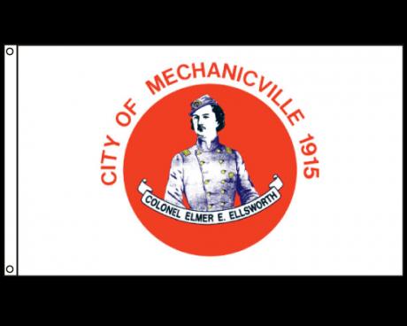 City of Mechanicville Flag (New York, USA), Header & Grommets - 3x5'