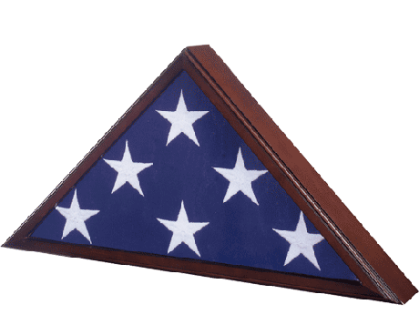 #90 Memorial Flag Case Cherry
