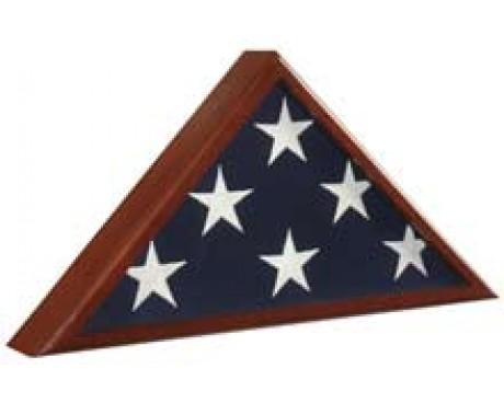 #90 Memorial Flag Case Cherry