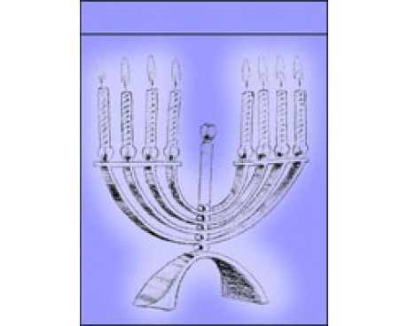 Menorah Garden Flag