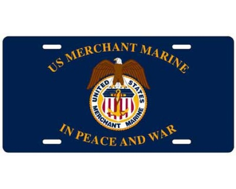 Merchant Marine License Plate