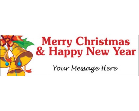 Merry Christmas & Happy New Year Bells Banner