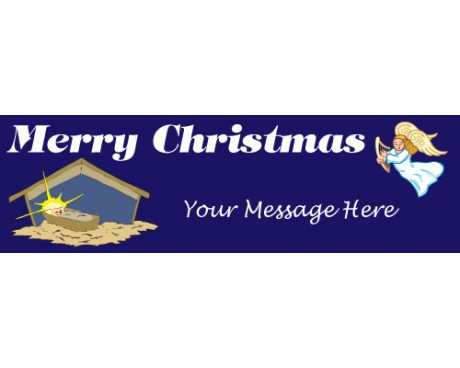Merry Christmas Religious Banner