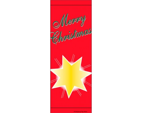 Merry Christmas Star Avenue Banner Red