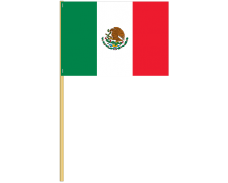 Mexico Cotton Stick Flag