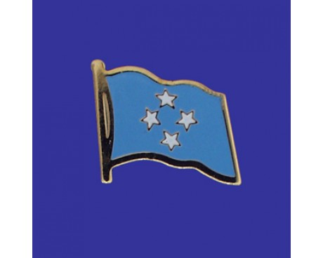 Micronesia Lapel Pin (Single Waving Flag)