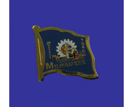 Milwaukee Lapel Pin (Single Waving Flag)