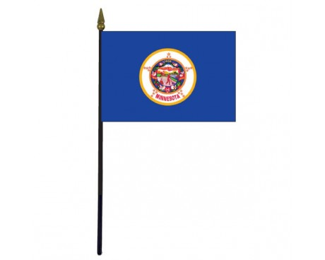 Minnesota State Stick Flag - 4x6""