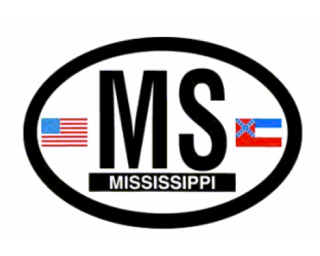 Mississippi Oval Sticker