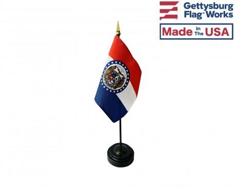 "Missouri State Stick Flag - 4x6"""