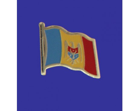 Moldova Lapel Pin (Single Waving Flag)