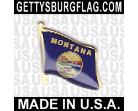 Montana State Flag Lapel Pin