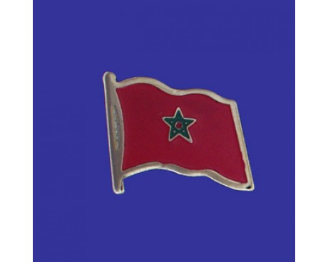 Morocco Lapel Pin (Single Waving Flag)