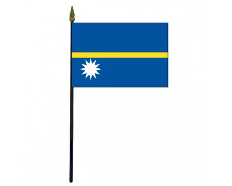 Nauru Stick Flag - 4x6""