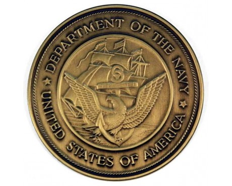 Navy Brass Medallion