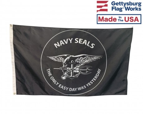 US Navy Seals Flag-The Only Easy Day