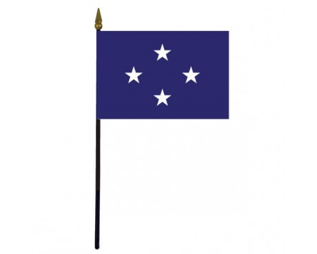 Navy Admiral Stick Flag - 4x6""