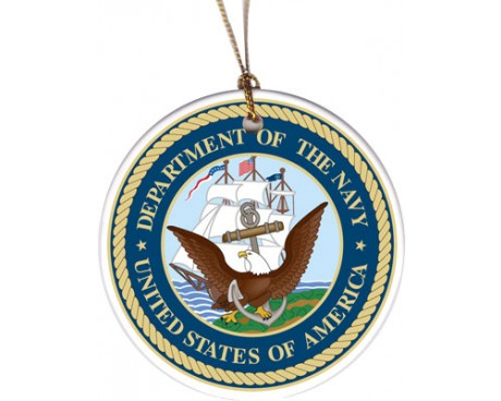 Christmas Ornament Navy