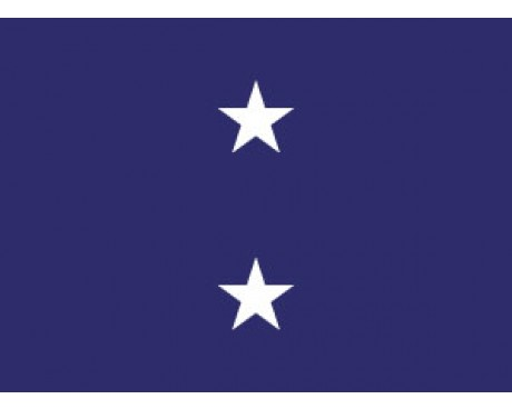 Navy Rear Admiral Flag (2 Stars) - 3x5'