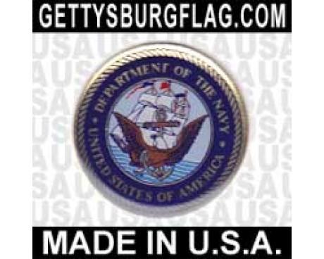 Navy Lapel Pin (Round Emblem Design)
