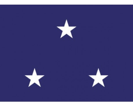Navy Vice Admiral Flag (3 Stars) - 3x5'