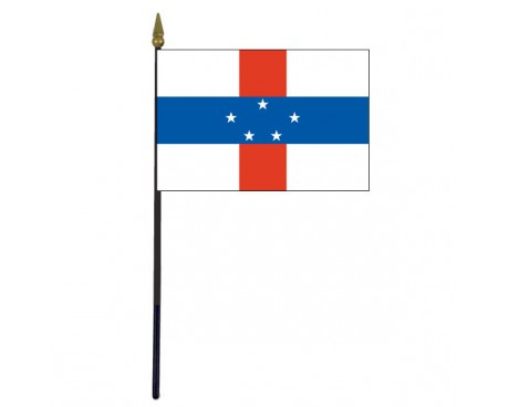 Netherlands Antilles Stick Flag - 4x6""