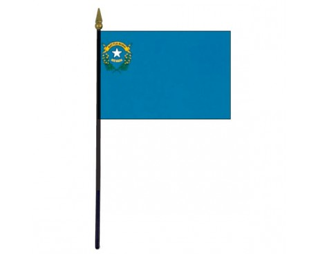 Nevada State Stick Flag - 4x6""