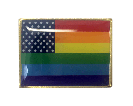 New Glory Rainbow Lapel Pin