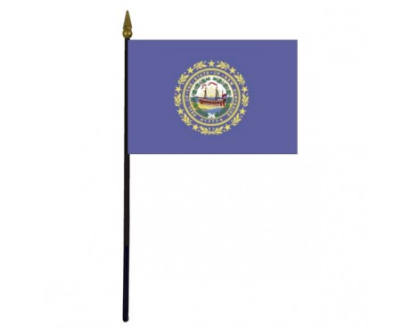 New Hampshire State Stick Flag - 4x6""