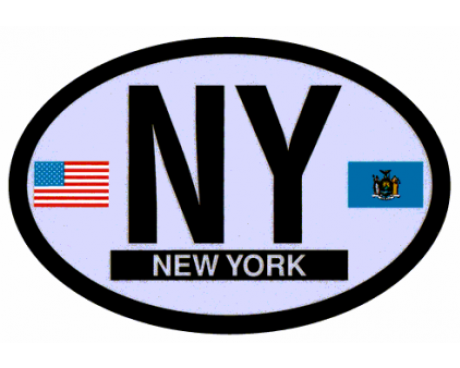 New York Oval Sticker