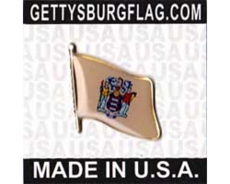 New Jersey State Flag Lapel Pin
