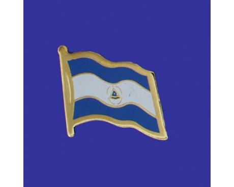 Nicaragua (seal design) Lapel Pin (Single Waving Flag)