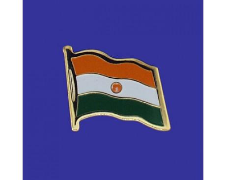 Niger Lapel Pin (Single Waving Flag)