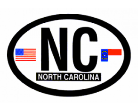 North Carolina Oval Sticker