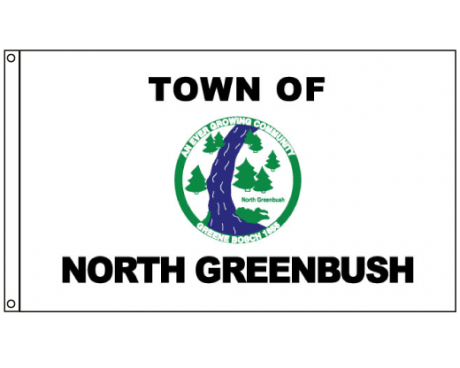 North Greenbush Flag (New York, USA), Header & Grommets - 4x6'