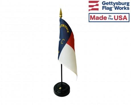 """North Carolina State Stick Flag - 4x6"""""""