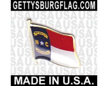 North Carolina State Flag Lapel Pin (Single Waving Flag)