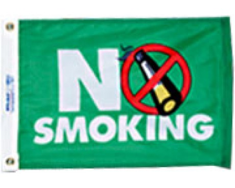 "No Smoking Flag - 12x18"""
