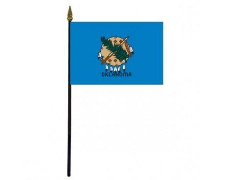 "Oklahoma State Stick Flag - 4x6"""