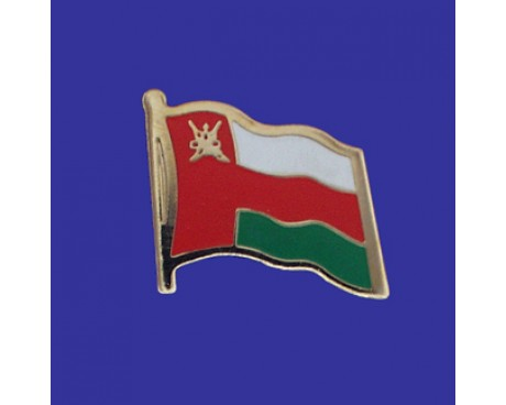 Oman Lapel Pin (Single Waving Flag)