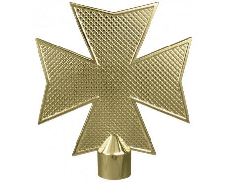 Maltese Cross Gold Finial