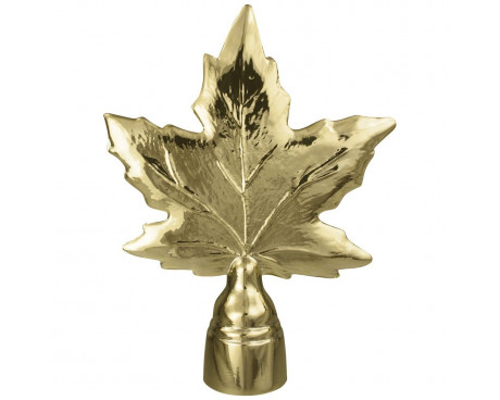 Maple Leaf Gold Finial